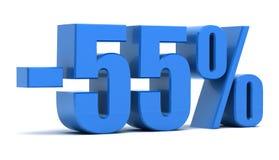 remise de 55 pour cent Photo libre de droits