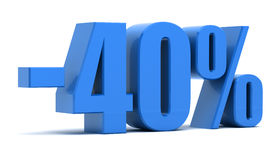 remise de 40 pour cent Image libre de droits