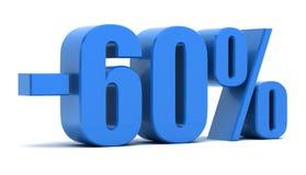 remise de 60 pour cent Images stock