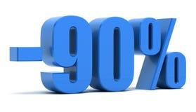 remise de 90 pour cent illustration libre de droits