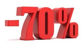 remise de 70 pour cent Images stock