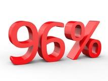 remise de 95 pour cent Nombres 3d rouges sur le fond blanc d'isolement Illustration Libre de Droits