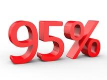 remise de 95 pour cent Nombres 3d rouges sur le fond blanc d'isolement Illustration de Vecteur