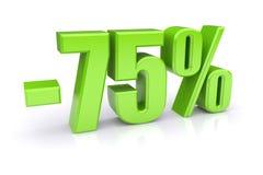 remise de 75% sur un blanc Photos stock
