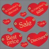 Remise de valentines Photographie stock libre de droits