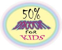 Remise modèle du rose 50% de collerfill seulement pour les images modèles d'icône de bouton d'enfants illustration de vecteur