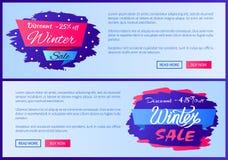 Remise -25 outre d'illustration de vecteur de vente d'hiver Photos stock