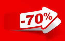 Remise 70 pour cent - actions Photographie stock