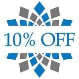 Remise 10 pour cent outre de Grey Circular bleu Image stock