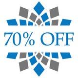 Remise 70 pour cent outre de Grey Circular bleu Illustration Libre de Droits