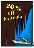 Remise pour une coupe de cheveux illustration stock