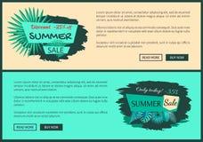 Remise promotion des ventes d'été de 25 et 45 pour cent illustration libre de droits