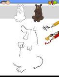 Remisu i koloru zadanie z niedźwiedziem Obraz Stock
