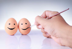remisu jajka ręka Fotografia Royalty Free