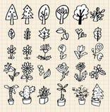 remisu ręki ikony drzewo Ilustracja Wektor