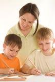 remisy matkują synów młodych obrazy royalty free