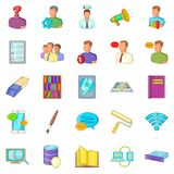 Remittance icons set, cartoon style Stock Photography