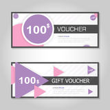 remium elegance pink and gold gift voucher template layout design set, certificate discount coupon pattern for shopping Stock Images