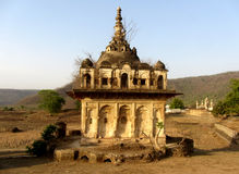 Remnant of ancient Hindu Temple, Pathrigarh, Satna, MP, India Stock Photo