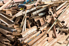 Remnant of iron. Surplus from construction Royalty Free Stock Photo