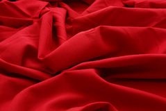 Remnant of red wool. Closeup of red wool Stock Images