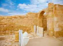 Remnants of altar doors in ancient church Royalty Free Stock Images