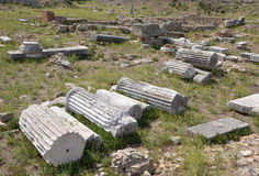 Remnants of ancient columns Royalty Free Stock Photo