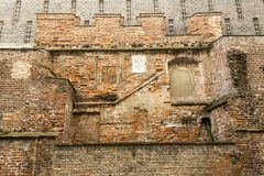 Remnants of the ancient walls in Munich Royalty Free Stock Images