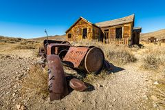 The remnants of the Bodie Ghost Town stock photo