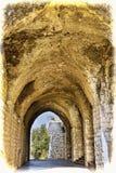 Remnants of Crusader castle in Israel Stock Image