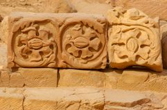 Remnants details in petra jordan Royalty Free Stock Photos