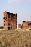 Remnants of factory building of brick Stock Image