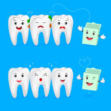 The remnants of food stuck in teeth Royalty Free Stock Photography