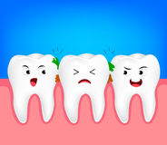 The remnants of food stuck in teeth, Royalty Free Stock Images