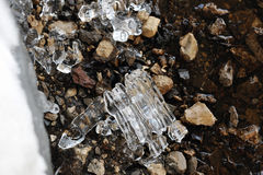Remnants of ice. Royalty Free Stock Image