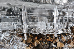 Remnants of ice. Royalty Free Stock Photo