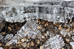 Remnants of ice. Stock Image