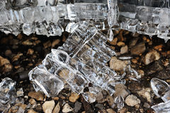 Remnants of ice. Stock Photography