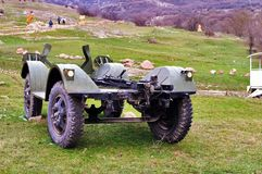 Remnants of an old military jeep Stock Photography