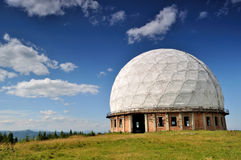 Remnants of old soviet radar station Royalty Free Stock Images
