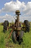 Remnants of an old tractor Stock Images