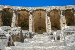 Ruins of Aspendos theatre Royalty Free Stock Images