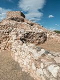 Tuzigoot National Monument, Clarkdale, Arizona. Remnants of the Sinagua culture at Tuzigoot National Monument Stock Photography
