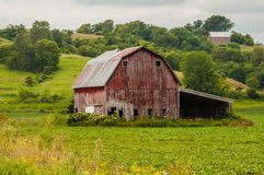 Remnant of an Old Barn Stock Photos
