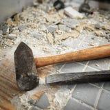 Remoção da telha do banheiro Imagem de Stock Royalty Free