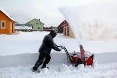 Remoção de neve imagem de stock royalty free