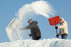 Remoção de neve surpreendente Fotografia de Stock