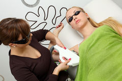 Remoção do cabelo Imagens de Stock Royalty Free
