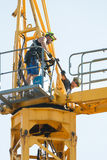 Remoção do guindaste de torre Fotografia de Stock