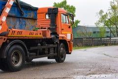 Remoção do lixo urbano Foto de Stock